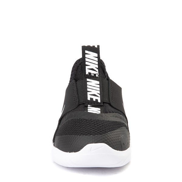 alternate view Nike Flex Runner Slip On Athletic Shoe - Baby / Toddler - Black / WhiteALT4