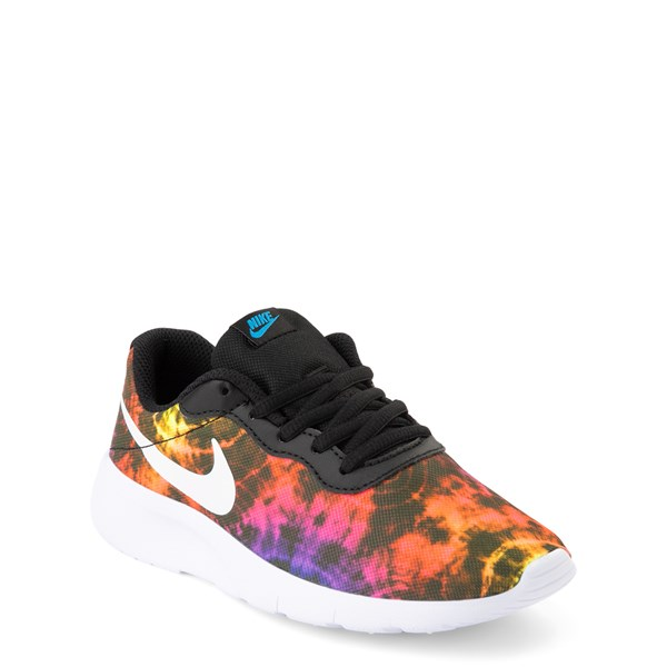 alternate view Nike Tanjun Tie Dye Athletic Shoe - Big KidALT1