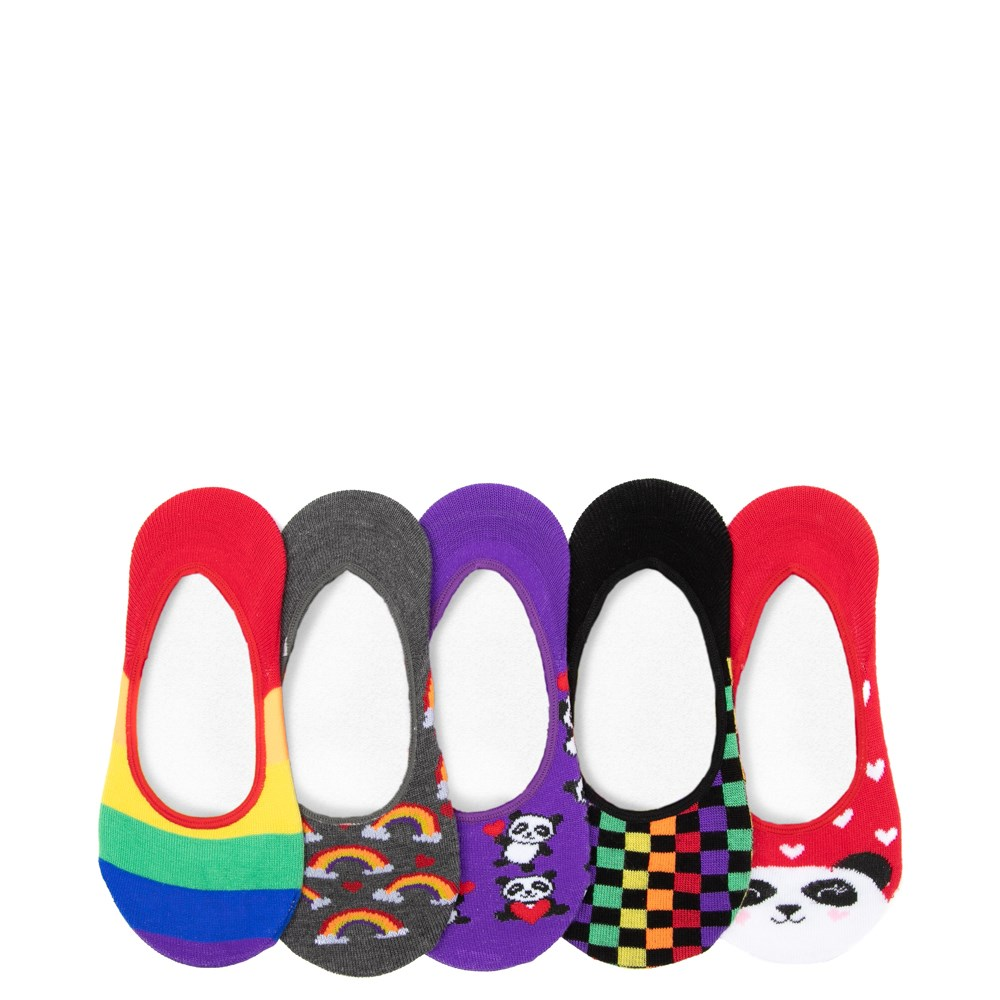 Rainbow Panda Liners 5 Pack - Girls Little Kid