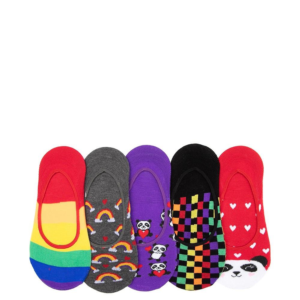 Rainbow Panda Liners 5 Pack - Girls Little Kid