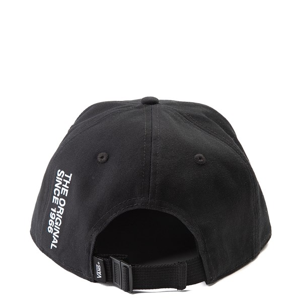 alternate view Vans Off The Wall Distort Strapback Hat - BlackALT1