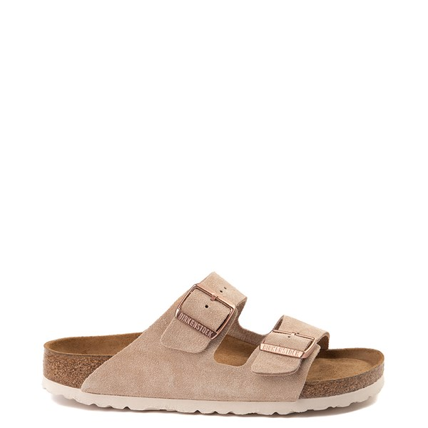 Main view of Womens Birkenstock Arizona Soft Footbed Sandal - Nude
