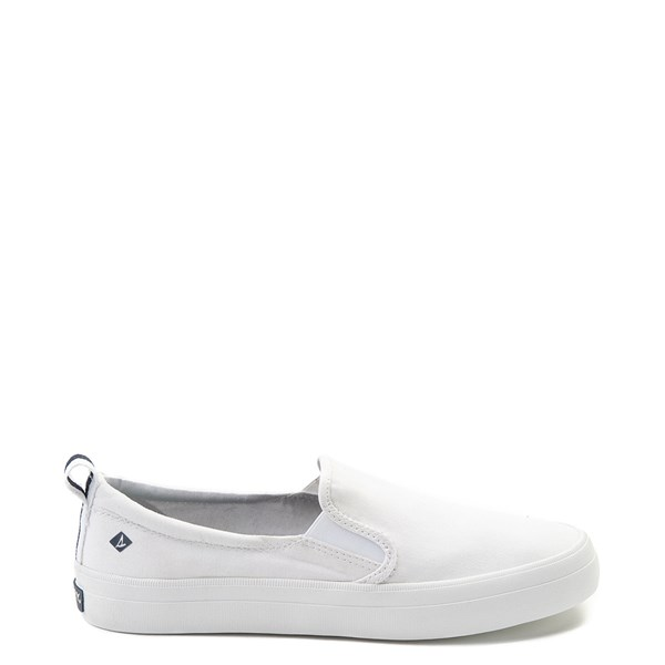 Main view of Womens Sperry Top-Sider Crest Slip On Casual Shoe - White