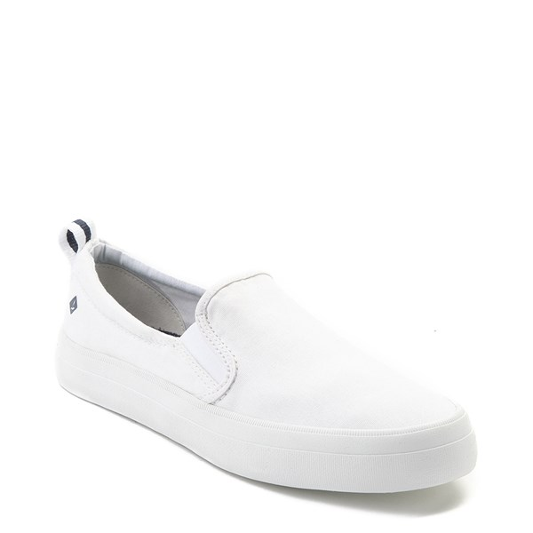 alternate view Womens Sperry Top-Sider Crest Slip On Casual Shoe - WhiteALT1