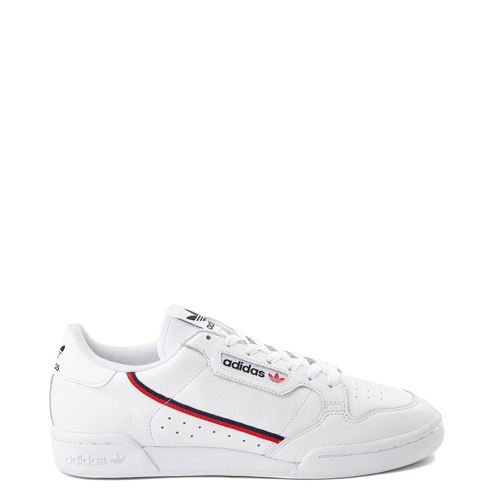 Mens adidas Continental 80 Athletic Shoe - White / Navy / Red