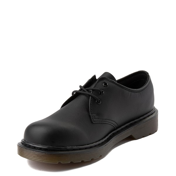 alternate view Dr. Martens 1461 Casual Shoe - Little Kid / Big Kid - Black MonochromeALT2