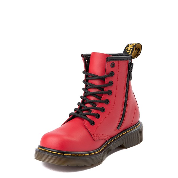 alternate view Dr. Martens 1460 8-Eye Color Pop Boot - Little Kid / Big Kid - Bright RedALT3