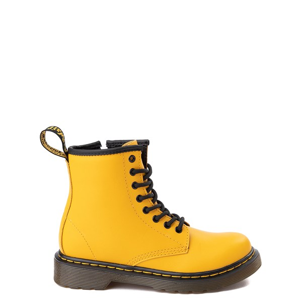 Main view of Dr. Martens 1460 8-Eye Color Pop Boot - Little Kid / Big Kid - Yellow