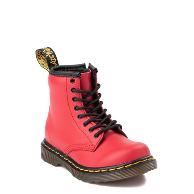 Alternate view of Dr. Martens 1460 8-Eye Color Pop Boot - Toddler - Bright Red