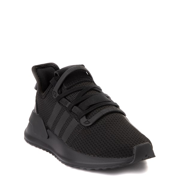 alternate view adidas U_Path Run Athletic Shoe - Little Kid - Black MonochromeALT1