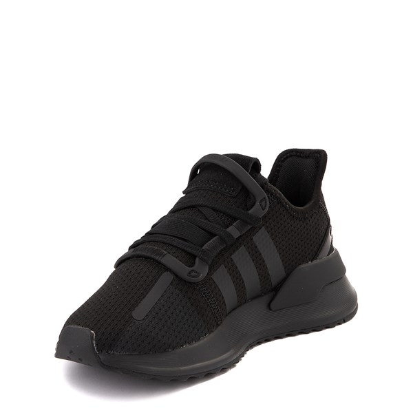 alternate view adidas U_Path Run Athletic Shoe - Little Kid - Black MonochromeALT3