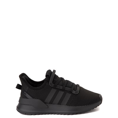 Main view of adidas U_Path Run Athletic Shoe - Little Kid - Black Monochrome