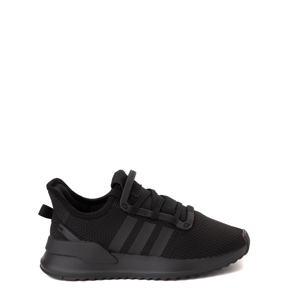adidas U_Path Run Athletic Shoe - Little Kid - Black Monochrome