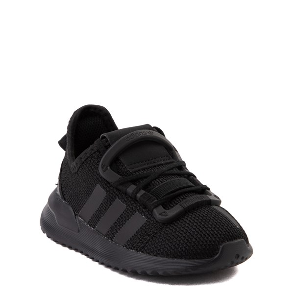alternate view adidas U_Path Run Athletic Shoe - Baby / Toddler - Black MonochromeALT1