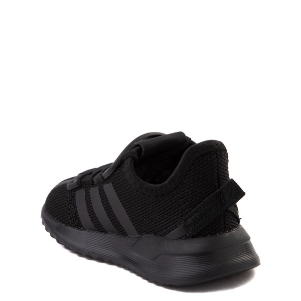 alternate view adidas U_Path Run Athletic Shoe - Baby / Toddler - Black MonochromeALT2
