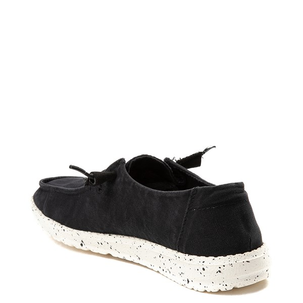 alternate view Womens Hey Dude Wendy Slip On Casual Shoe - BlackALT2