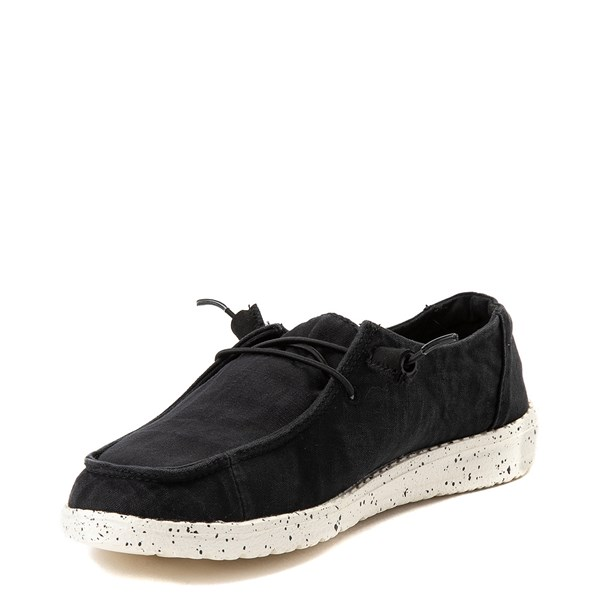 alternate view Womens Hey Dude Wendy Slip On Casual Shoe - BlackALT3