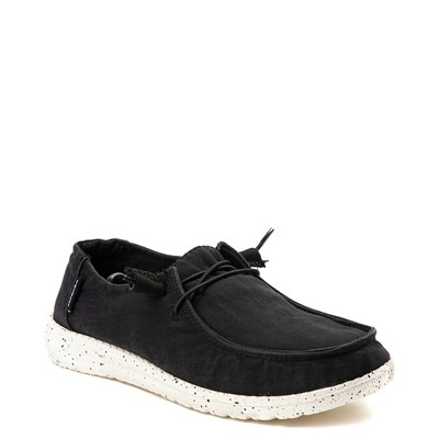 Alternate view of Womens Hey Dude Wendy Slip On Casual Shoe - Black