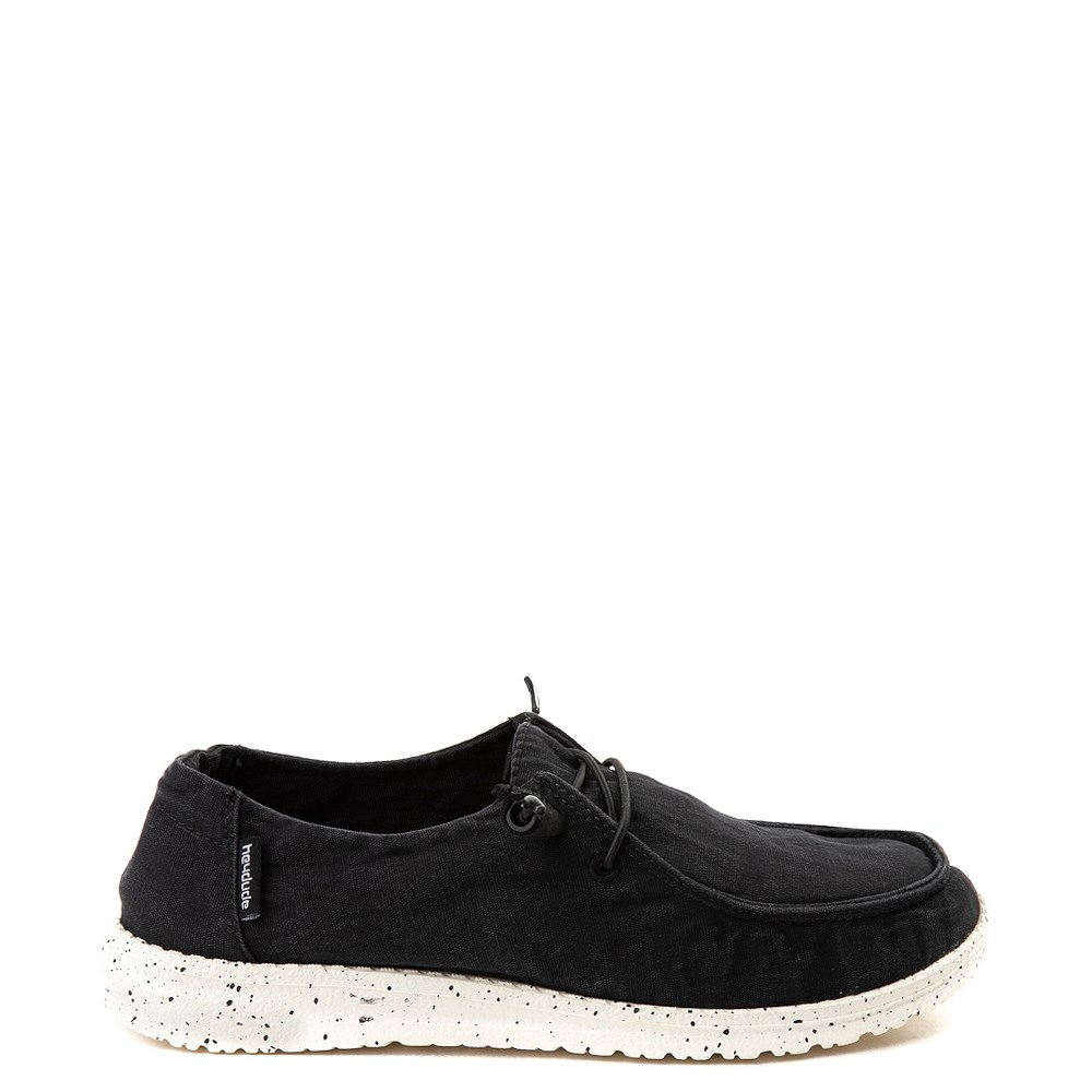 Womens Hey Dude Wendy Slip On Casual Shoe - Black
