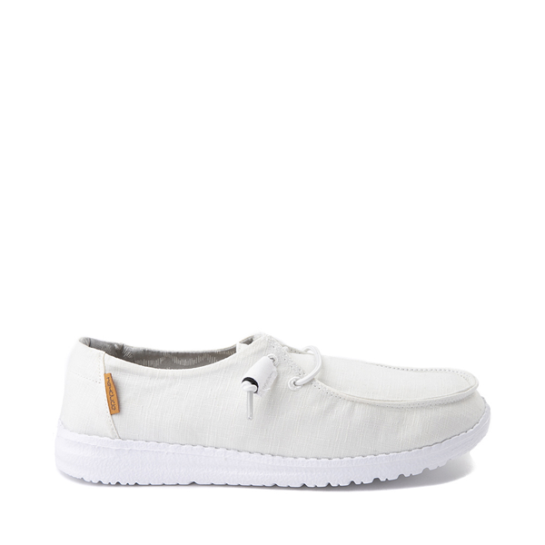 Womens Hey Dude Wendy Slip On Casual Shoe - White