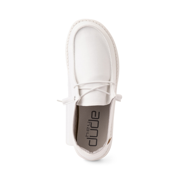 alternate view Womens Hey Dude Wendy Slip On Casual Shoe - WhiteALT2