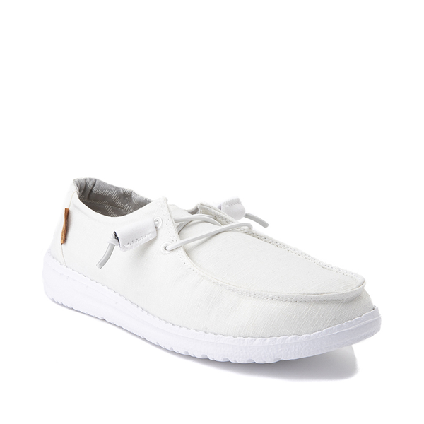 alternate view Womens Hey Dude Wendy Slip On Casual Shoe - WhiteALT5