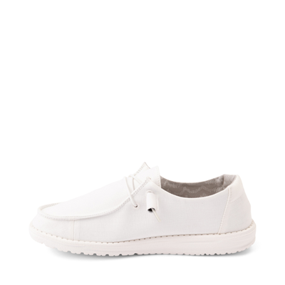 Alternate view of Womens Hey Dude Wendy Slip On Casual Shoe - White