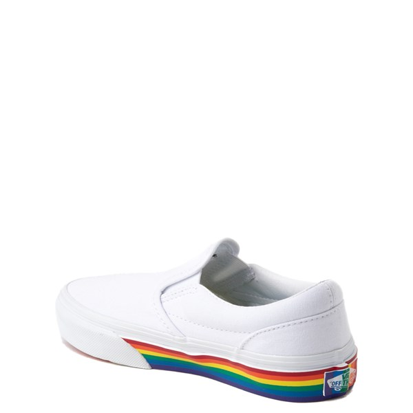 alternate view Vans Slip On Rainbow Skate Shoe - Little Kid / Big Kid - White / MultiALT2