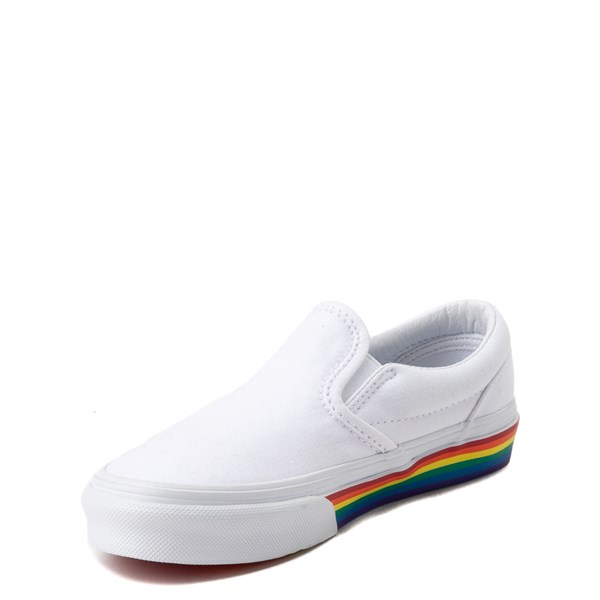 alternate view Vans Slip On Rainbow Skate Shoe - Little Kid / Big Kid - White / MultiALT3