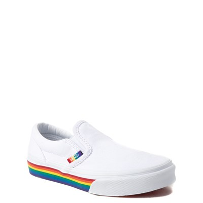 Alternate view of Vans Slip On Rainbow Skate Shoe - Little Kid