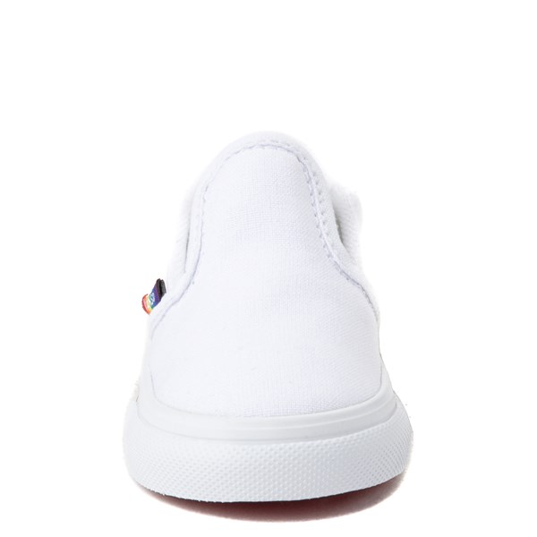 alternate view Vans Slip On Rainbow Skate Shoe - Baby / Toddler - White / MultiALT4