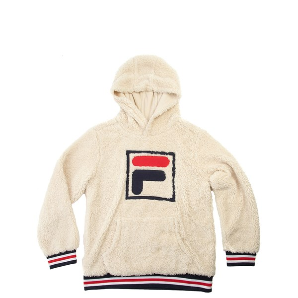 Fila Sherpa Hoodie - Little Kid / Big Kid - Natural