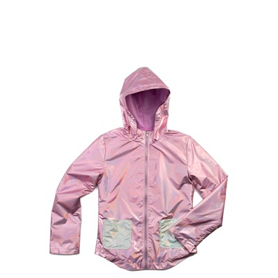 Main view of Shiny Windbreaker Jacket - Girls Little Kid