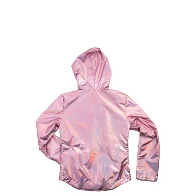 Alternate view of Shiny Windbreaker Jacket - Girls Little Kid