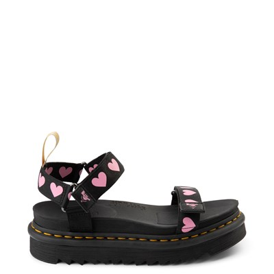 Main view of Womens Dr. Martens x Lazy Oaf Heart Sandal