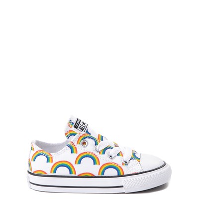 Main view of Converse Chuck Taylor All Star Lo Rainbow Sneaker - Baby / Toddler