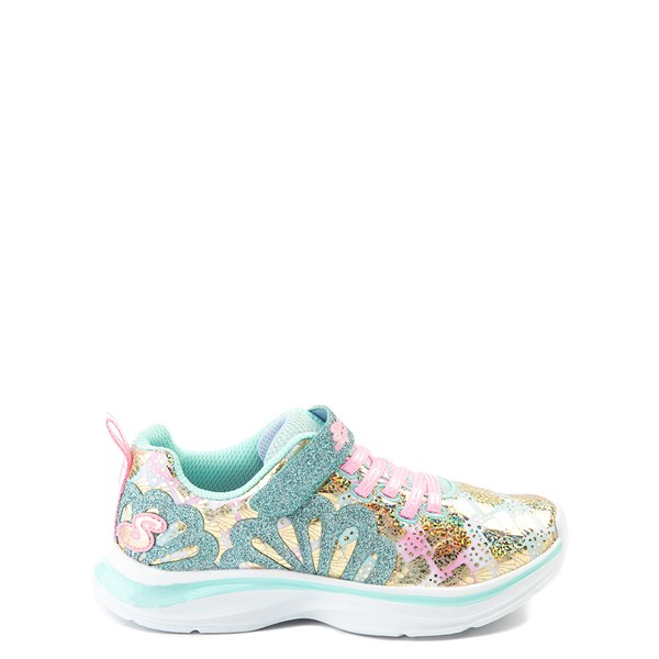 Skechers Double Dreams Mermaid Music Sneaker - Little Kid