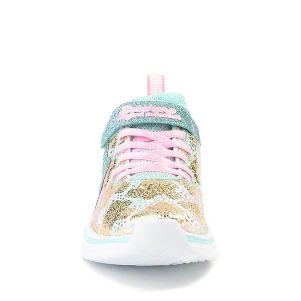 alternate view Skechers Double Dreams Mermaid Music Sneaker - Little KidALT4