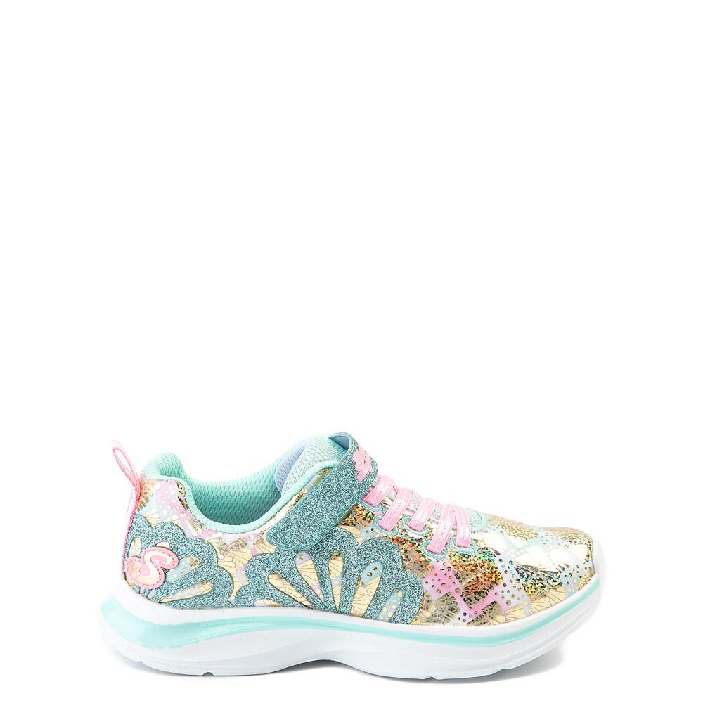 Skechers Double Dreams Mermaid Music Sneaker - Little Kid