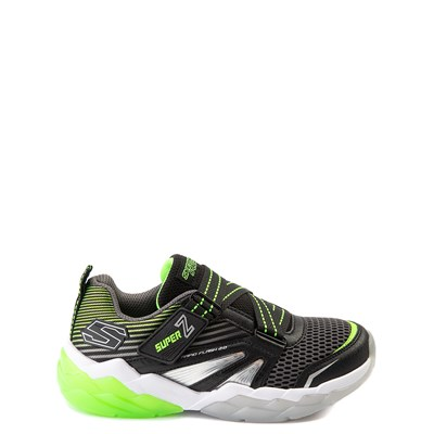 Main view of Skechers S Lights Rapid Flash 2.0 Sneaker - Little Kid - Black / Lime