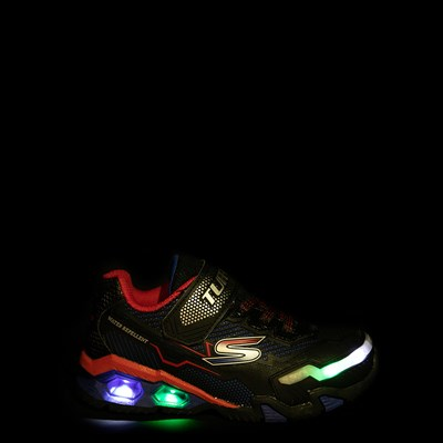 Alternate view of Skechers S Lights Hydro Lights Sneaker - Little Kid - Black / Red / Blue