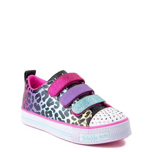 alternate view Skechers Twinkle Toes Twi-Lites Leopard Sneaker - Little KidALT1B