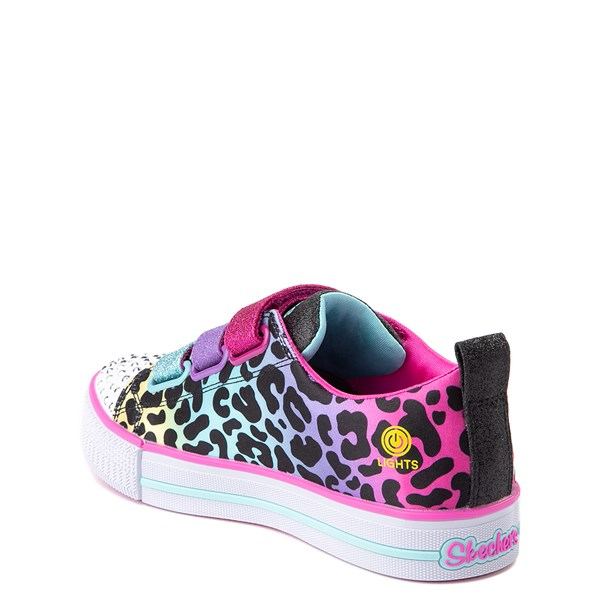 alternate view Skechers Twinkle Toes Twi-Lites Leopard Sneaker - Little KidALT2