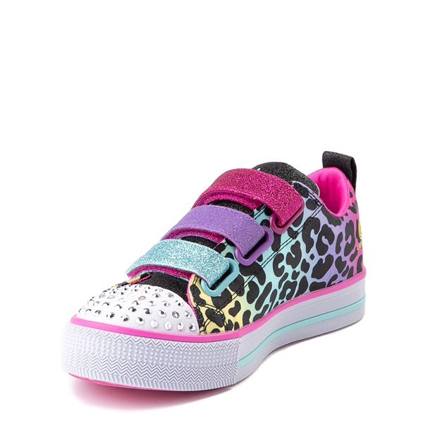 alternate view Skechers Twinkle Toes Twi-Lites Leopard Sneaker - Little KidALT3