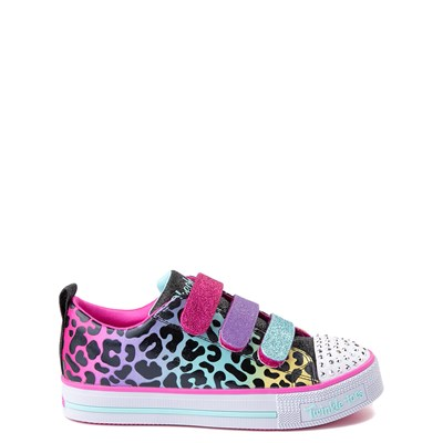 Main view of Skechers Twinkle Toes Twi-Lites Leopard Sneaker - Little Kid