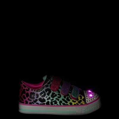 Alternate view of Skechers Twinkle Toes Twi-Lites Leopard Sneaker - Little Kid