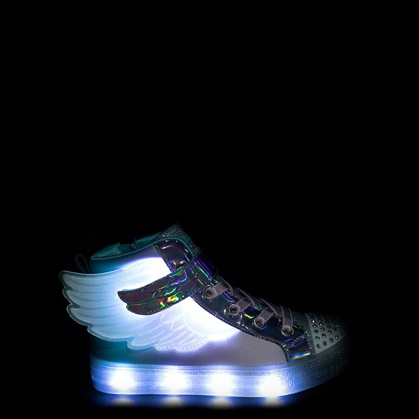 alternate view Skechers Twinkle Toes Sparkle Wings Hi Sneaker - Little KidALT1