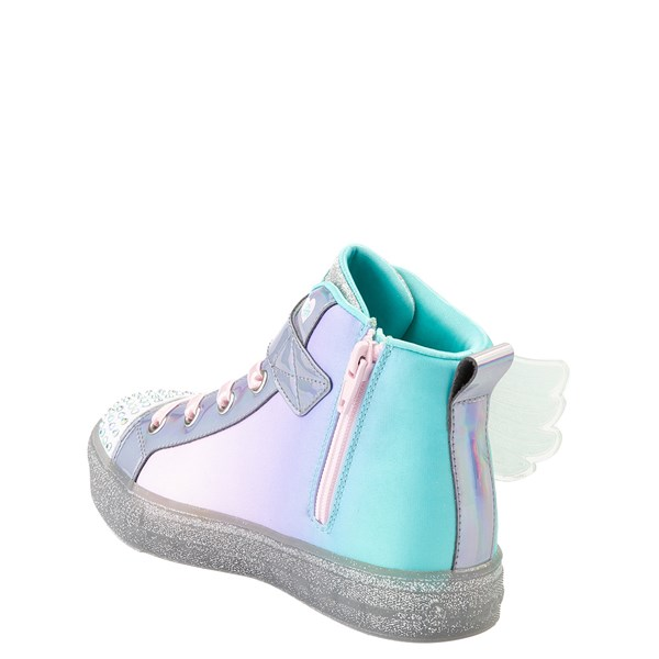 alternate view Skechers Twinkle Toes Sparkle Wings Hi Sneaker - Little KidALT2