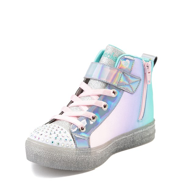 alternate view Skechers Twinkle Toes Sparkle Wings Hi Sneaker - Little KidALT3