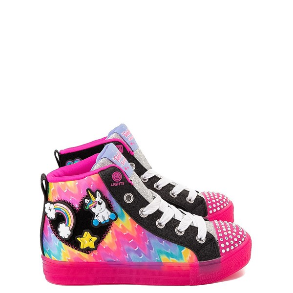 Default view of Skechers Twinkle Toes Shuffle Brights Patches Sneaker - Little Kid
